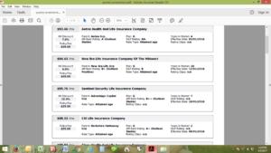 Medigap rates screenshot